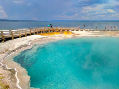 Geothermal features in Yellowstone